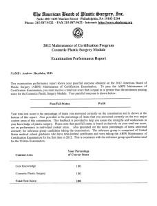 exam performance report